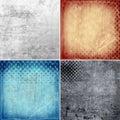 Grunge backgrounds with circles set of background illustration Royalty Free Stock Image
