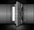 Grunge bank vault illustration of a in a interior Royalty Free Stock Images
