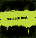 Grunge banner with an inky dribble strip with copy Royalty Free Stock Photo