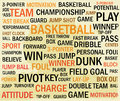 Grunge basketball word cloud abstract background Royalty Free Stock Image