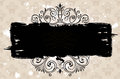 Grunge black banner background. Vintage patterned Royalty Free Stock Photo