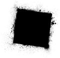 Grunge black frame ink blots square on white eps Stock Image
