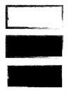 Grunge black frame vector background set Royalty Free Stock Photo