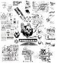 Grunge Black And White Illustr...