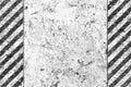 Grunge Black and White Pattern with Warning Stripe Royalty Free Stock Photo
