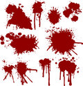 Grunge blood Stock Images