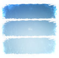 Grunge blue frames illustration Royalty Free Stock Images