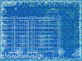Grunge blue horizontal architectural background Royalty Free Stock Photo