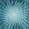 Grunge blue vintage sunburst swirl, twirl background texture Royalty Free Stock Photo