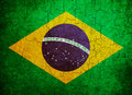 Grunge Brazil flag Stock Photography