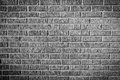 Grunge brick facade wall texture black white version Royalty Free Stock Photos