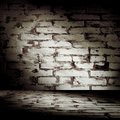 Grunge Brick Room Royalty Free Stock Photos