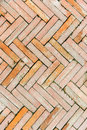 Grunge brick walkway background texture Royalty Free Stock Photo