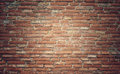 Grunge brick wall texture background with vintage and vignette t tone Stock Photos