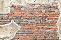Grunge brick wall texture background with vintage and vignette t tone Royalty Free Stock Photography