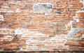 Grunge brick wall texture background with vintage and vignette t tone Royalty Free Stock Photo