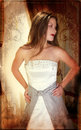 Grunge bride Royalty Free Stock Photo