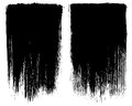 Grunge brush stroke background frames frame set vector for use based from black chinese ink on paper Royalty Free Stock Image