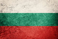 Grunge Bulgaria flag. Bulgarian flag with grunge texture. Royalty Free Stock Photo