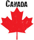 Grunge Canadian Emblem Royalty Free Stock Images