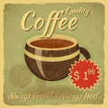 Grunge Card with Coffee Cup Royalty Free Stock Images