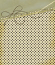 Grunge card for design polka dot background Royalty Free Stock Images