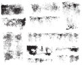 Grunge cardboard impressions illustrated set of black on white background Royalty Free Stock Photography