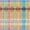 Grunge check pattern Stock Photo