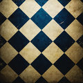 Grunge checkered background Stock Images
