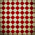 Grunge checkered background red illustration Stock Images