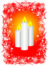 Grunge Christmas Candles Stock Photo