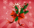 Grunge christmas candy cane pink background Stock Photos