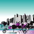 Grunge City Background Royalty Free Stock Photography