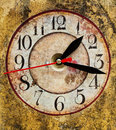 Grunge Clock Stock Photo