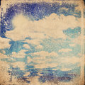 Grunge cloud background vintage paper texture Royalty Free Stock Photos