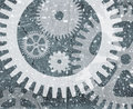 Grunge cogwheel pattern Stock Photography