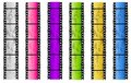 Grunge Colored Film Strip Borders Royalty Free Stock Photo