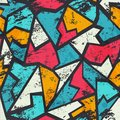 Grunge colored graffiti seamless pattern eps Stock Images