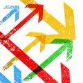 Grunge colorful arrows