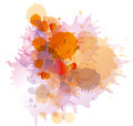 Grunge colorful paint splashes on whiite Royalty Free Stock Photo