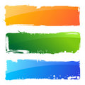 Grunge colour banners. Brush abstract background Royalty Free Stock Photo