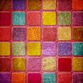 Grunge colourful squares Royalty Free Stock Photo