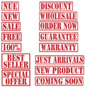 Grunge Commercial Product Rubber Stamp Set Royalty Free Stock Photo