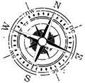 Grunge compass Royalty Free Stock Photo