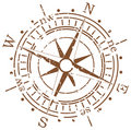 Grunge compass Royalty Free Stock Photo