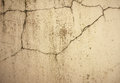 Grunge concrete cement wall with crack in industrial building Royalty Free Stock Photo