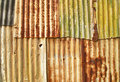 Grunge corrugated metal Royalty Free Stock Images