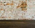 Grunge cracked brick wall background Royalty Free Stock Photo