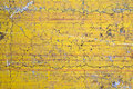 Grunge cracked concrete wall yellow Stock Photo
