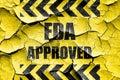 Grunge cracked FDA approved background Royalty Free Stock Photo